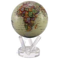 "The continuous rotating MOVA 6"" Antique Ocean Desk Globe is amazing."
