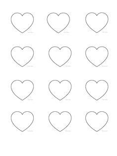 heart shape template. 3.8cm