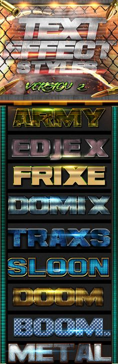 Text Effect Styles FX 2 by TGEVART Text Effect Styles FX 2to add amazing look to your artworks the pack comes with: -PSD FILE with the preview shown (flares and elem