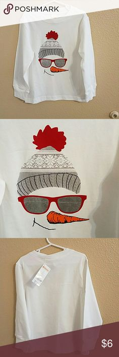 Gymboree NWT Long Sleeve Snowman T boys sz 5 Adorable NWT Gymboree White Long Sleeve T shirt with Iron on Snowman Face. Boys size 5 Gymboree Shirts & Tops Tees - Long Sleeve