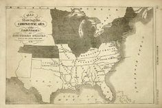 Original 1861 Map of the Confederate States