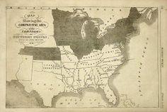 Original 1861 Map of the Confederate States