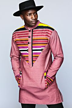 African Fashion - Men's Style, asoebi styles, menswear, senator, senator's top, tailored, dapper, dapper man, shirt, top, polo, lookbook, ankara, print, kente, african print #AfricanFashion