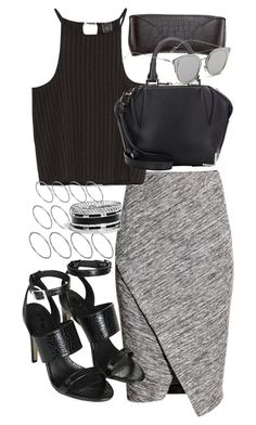 """""""Untitled #2300"""" by mandyz75 ❤ liked on Polyvore featuring H&M, Zara, Alexander Wang, GANT, ASOS, GUESS and Topshop"""