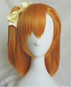 Love Live ! LoveLive! Kousaka Honoka Orange brown Modeling style cosplay wig hair Heat resistance fibre free shipping