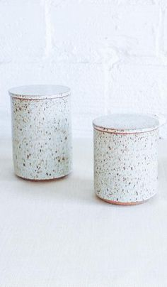 Victoria Morris Pottery Ceramic Canisters: Cream Speckle