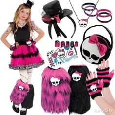 Be freaky-fabulous! Let your fashionista put her own spin on her fave Monster High costume with tutus, fascinator headbands, skullette jewelry, leg warmers, purses, nails ... gore-geous! #BeACharacter