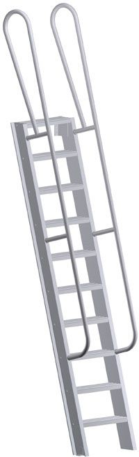 Fixed Access Steel Ladder For Roof Hatch Specify Length