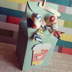 cupcake/muffin box by @bonariveratran using the @wermemorykeepers Trim & Score Board and Flower Punch Board.