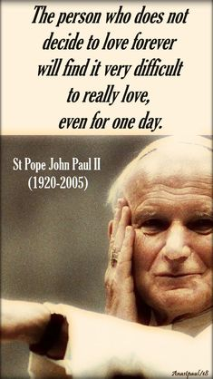 the person who does not - st john paul - 6 april 2018
