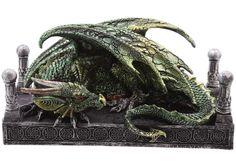 Dragón Verde #dragons #fantasia #fantasy #decor #decoracion #metal #rock #gotico #gothic #gifts #xtremonline