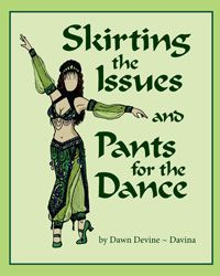 Skirting the Issues & Pants for the Dance by Dawn Devine ~ Davina.  DIY costuming book that steps the reader through the process of designing and drafting patterns from their own unique body measurements.  Tons of information and lots of style variations!