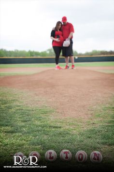 Maternity Photography | Baseball Theme | Red and Black | Future Baby Boy