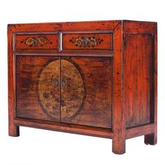 Chinese Sideboard in Orange Lacquer    #ChineseFurniture