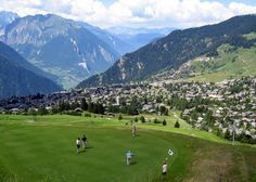 Switzerland has several top class alpine golf courses such as Verbier and Crans Montana, Swiss Valais Alps Swiss Travel, Swiss Alps, France, Rhone, Out Of This World, Switzerland, Golf Courses, Places To Go, Around The Worlds