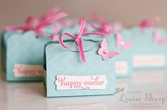 Stampin' Up! Two Tags Die by Louise Sharp: Happy Easter Tutorial!