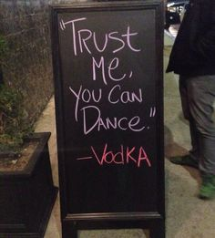 """Funny Small Business Signage: """"Vodka is a TERRIBLE advisor."""" Have Fun Engage Customers Build Your Business   Transition Marketing Services   Okanagan Small Business Branding & Marketing Professionals Http://www.transitionmarketing.ca"""