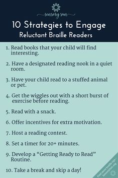 Make reading fun for a braille reader who is struggling to learn. Here are 10 ideas to engage kids by making reading braille a positive experience. Reading Braille, Braille Reader, The Wiggles, Literacy Skills, Books To Read, Coding, Positivity, Sun, Learning