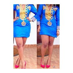 Tribal Print Long Sleeve Mini Dress ($25) ❤ liked on Polyvore featuring dresses, blue, short blue dresses, blue sheath dress, long-sleeve maxi dress, long-sleeve mini dress and red long sleeve dress