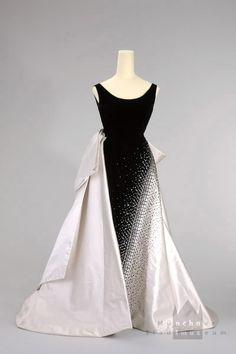 Emilio Schuberth evening dress worn by Queen Soraya of Iran, 1953