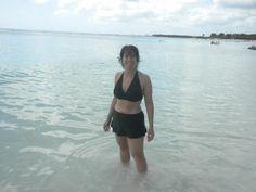Renee in the ocean