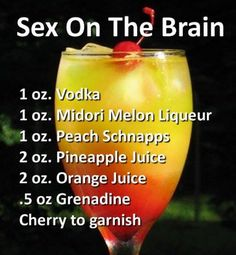 Sex on the brain drink