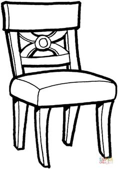 Kitchen Chair Coloring Page From Furniture Category Select 28148 Printable Crafts Of Cartoons Nature Animals Bible And Many More