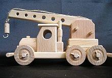 Truck mobile wooden cranes