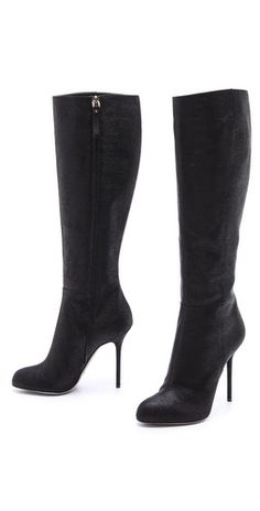 Sergio Rossi Embossed Suede Heeled Boots | SHOPBOP