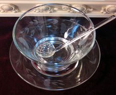 Princess House Crystal Mayonnaise Server with Underplate and Ladle.