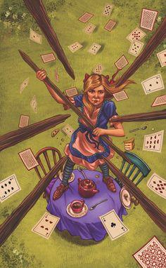 Tarot in Wonderland 7 of wands