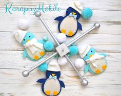 Baby mobile penguin mobile nursery mobile crib mobile #Etsy #Favorite #EtsyFav #Share #EtsyShop Shared by #BaliTribalJewelry http://etsy.me/1sDZ302