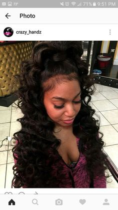Quality virgin human hair & extensions trusted & recommended by stylists, and backed by the only return policy in the industry. Try Mayvenn hair today! My Hairstyle, Ponytail Hairstyles, Weave Hairstyles, Curly Ponytail, Frontal Hairstyles, Hairstyle Ideas, Black Girls Hairstyles, Pretty Hairstyles, Elegant Hairstyles