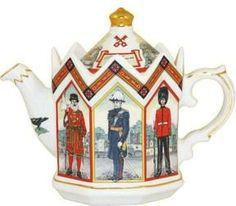 Town Heritage Collectible Teapot - James Sadler Teapots - Roses And Teacups