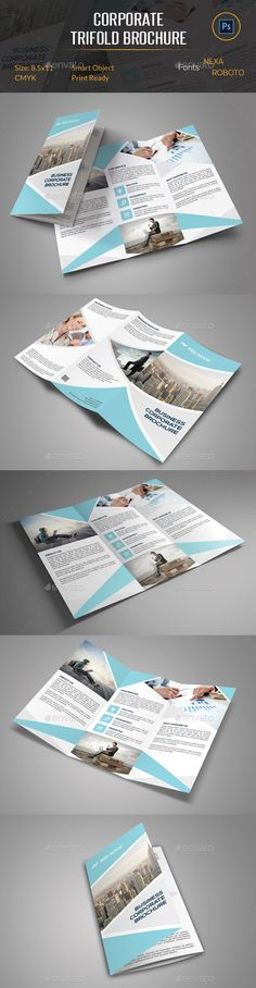 Trifold Brochure by FathurFateh on @creativemarket Graphic - free printable tri fold brochure templates