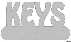 Scroll Saw Keyrack Patterns