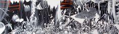 La isla Acrílico s/ tela 145 x 45 cm 2015