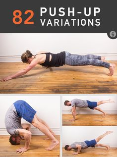 82 Push-Up Variations Fitness motivation inspiration fitspo crossfit running workout exercise Fitness Workouts, Fitness Herausforderungen, Toning Workouts, Fun Workouts, Fitness Motivation, King Fitness, Treadmill Exercises, Fitness Models, Female Fitness