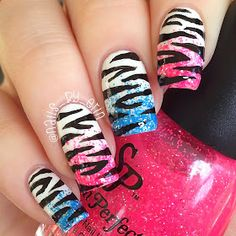NailsByErin: 70's Inspired Zebra Print Mani (@nails_by_erin) on Instagram and Twitter
