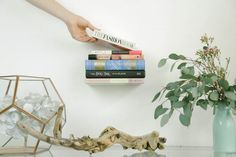 DIY Floating Bookshelf Upcycle