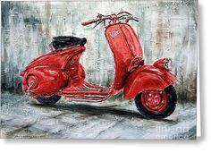 1947 Vespa 98 Scooter Greeting Card by Joey Agbayani