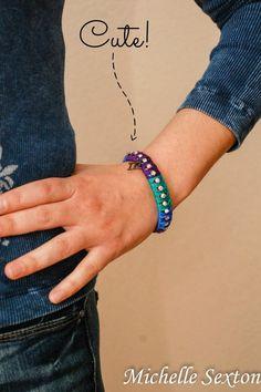 diy Upcycled Color Block Bracelet