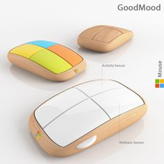 Truffol.com | The GoodMood Mouse has an inbuilt wellness sensor which measures blood pressure and temperature and lets you know when you need to take a quick break.