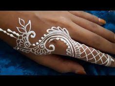 ᴴᴰ White Henna for Finger Finger Henna, Henna Designs, Mehndi Design Photos, Mandala Drawing, Royal Jewelry, White Bodies, Henna Art, Body Art, Tattoos