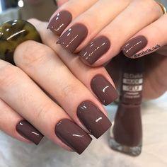 30 ideas which nail polish to choose - My Nails Brown Acrylic Nails, Brown Nail Polish, Brown Nails, Nail Polish Colors, Elegant Nails, Stylish Nails, Trendy Nails, Glam Nails, Cute Nails