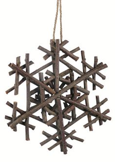 twig snowflake ornament