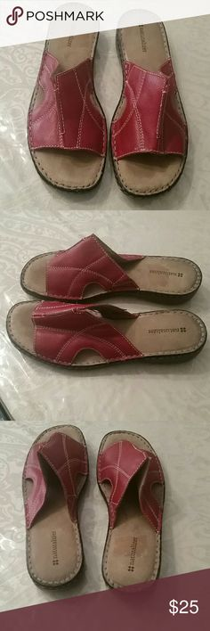 Sandals Red naturalizer sandals, very good condition, 9 wide width Naturalizer Shoes Sandals