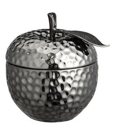 Check this out! Small scented candle in a fruit-shaped ceramic holder. Lid with metal knob and decorative, embossed leaf. Diameter 2 1/4 - 2 3/4 in., height 3 1/4 - 4 in. Burn time approx. 5 hours. - Visit hm.com to see more.