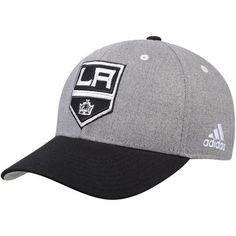 aba3c2ec210 Men s adidas Gray Los Angeles Kings 2017 NHL China Games Structured  Adjustable Hat