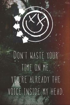 Miss You by Blink 182 ... I hate when me and someone have a song and then this SONG makes me think of them
